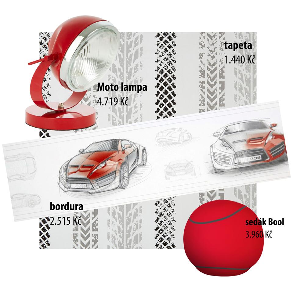 <p>Dravá červenočerná kombinace je oblíbenou volbou mnoha odvážných teenagerů, kteří umí prosadit svůj styl. Skicy sportovních automobilů,dezény pneumatik a mnoho dalších motivů nabízíme i v široké škále dalších barevných kombinací.</p>