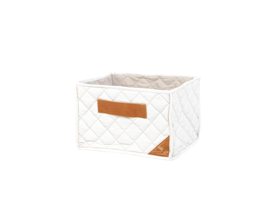 <p><strong>NOVINKA</strong></p> <p></p> <p>Prošívaný látkový box s koženým poutkem, 25*40*30cm.</p> <p></p>