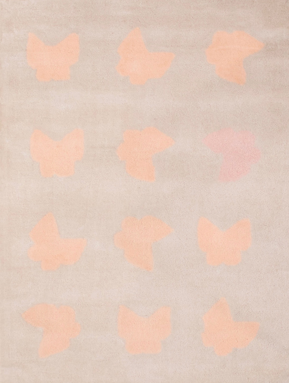 <p>Koberec s motýlky. Velikost 170*130cm. 100% měkký akryl.</p>