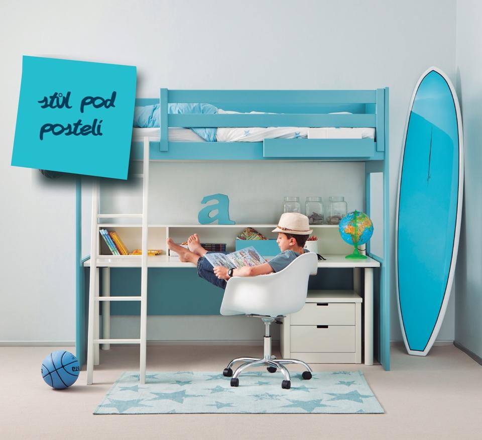 <p>V menším pokoji, kde potřebuje student spát, pracovat i mít dostatek prostoru pro knihy, učebnice ale i zábavu a svoje záliby, bývá zařizování opravdu oříškem.</p> <p></p> <p>Oblíbeným a elegantním řešením je vysoká postel, o které často děti sní. Prostor pod ní lze využít. jako úložné prostory nebo pracovní kout. A nebojme se barevných kombinací.</p> <p></p> <p></p> <p></p>