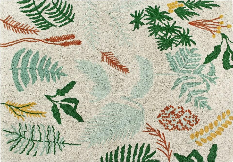 <p>Koberec s motivy rostlin 140x200cm, materiál bavlna.</p> <p></p> <p></p> <p></p>
