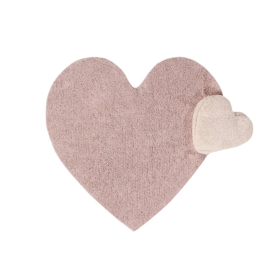 <p>Bavlněný koberec s polštářkem ve tvaru srdce (2v1) 160*180cm</p>